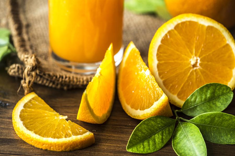 Freshly squeezed organic orange juice